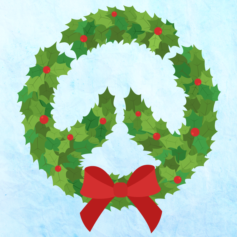 Overwatch holiday wreath illustration | Smokie Does Stuff