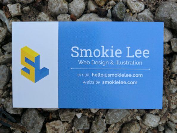business card for smokie lee, web design & illustration